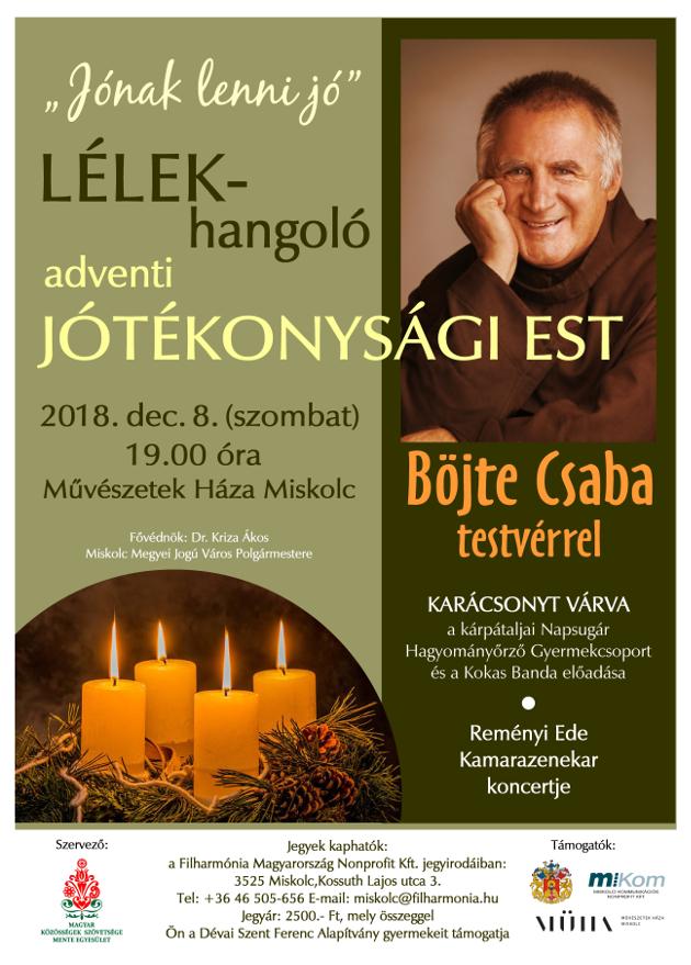 Jónak lenni jó - LÉLEK-hangoló jótékonysági est Böjte Csaba testvérrel